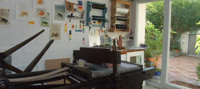 Journées du patrimoine 2018 - Démonstration de l'impression d'une lithographie et/ou d'une gravure