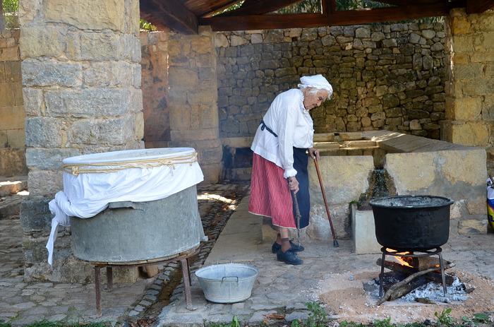 Journées du patrimoine 2018 - Démonstration de la bugade