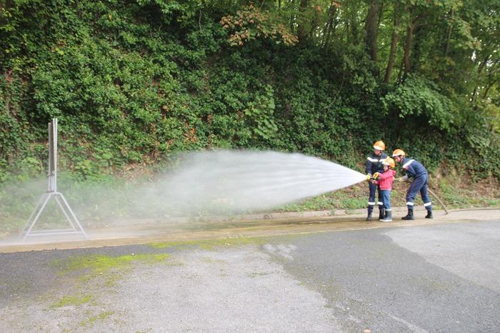 Journées du patrimoine 2018 - Démonstration de manœuvres par des jeunes Sapeurs-Pompiers