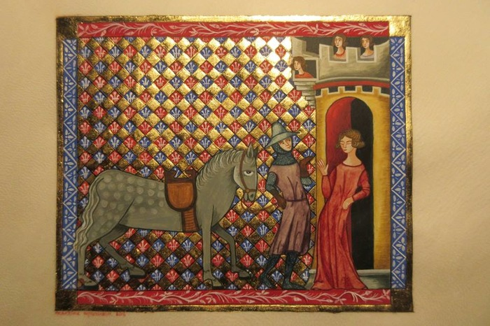 Journées du patrimoine 2018 - Démonstration de réalisation d'enluminures médiévales