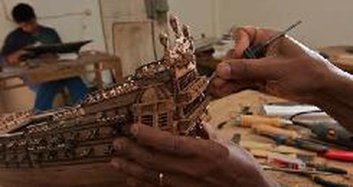 Journées du patrimoine 2018 - Démonstration de restauration de modèles réduits de bateaux