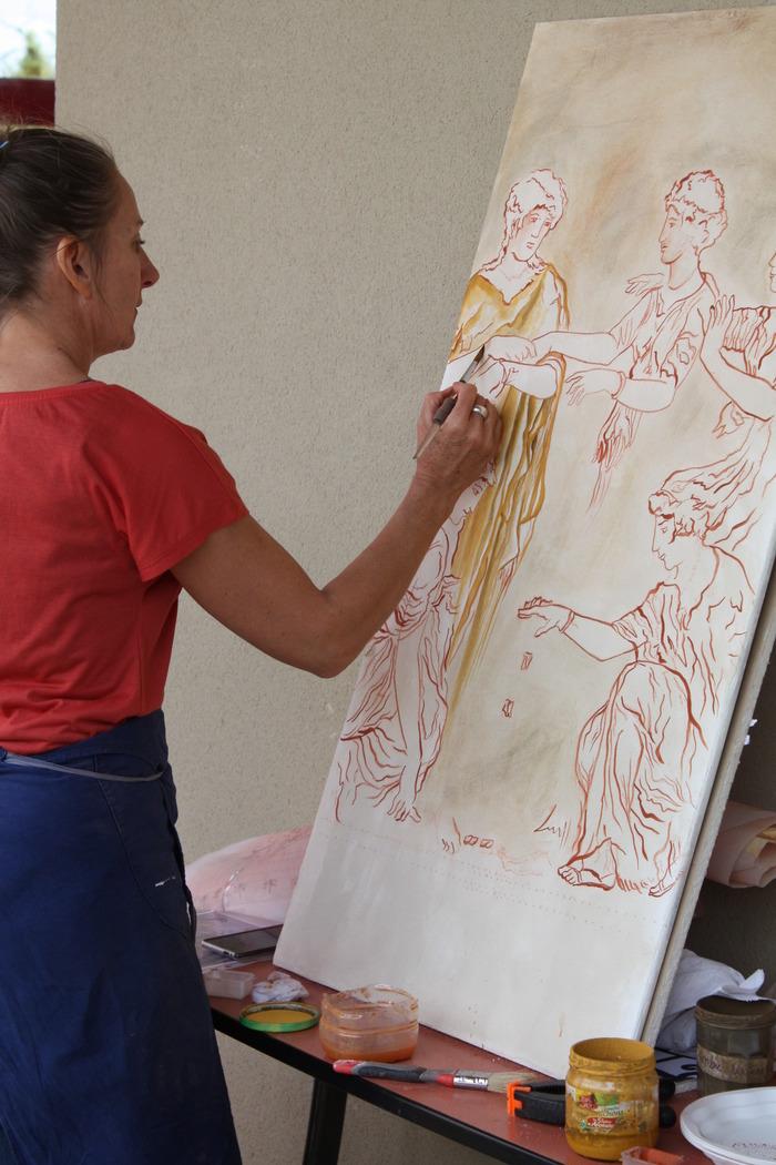 Journées du patrimoine 2018 - Démonstration et initiation à la fresque antique