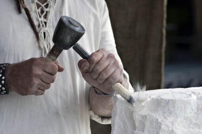 Journées du patrimoine 2018 - Démonstrations Taille de pierre, petites maçonneries par l'entreprise Lefèvre