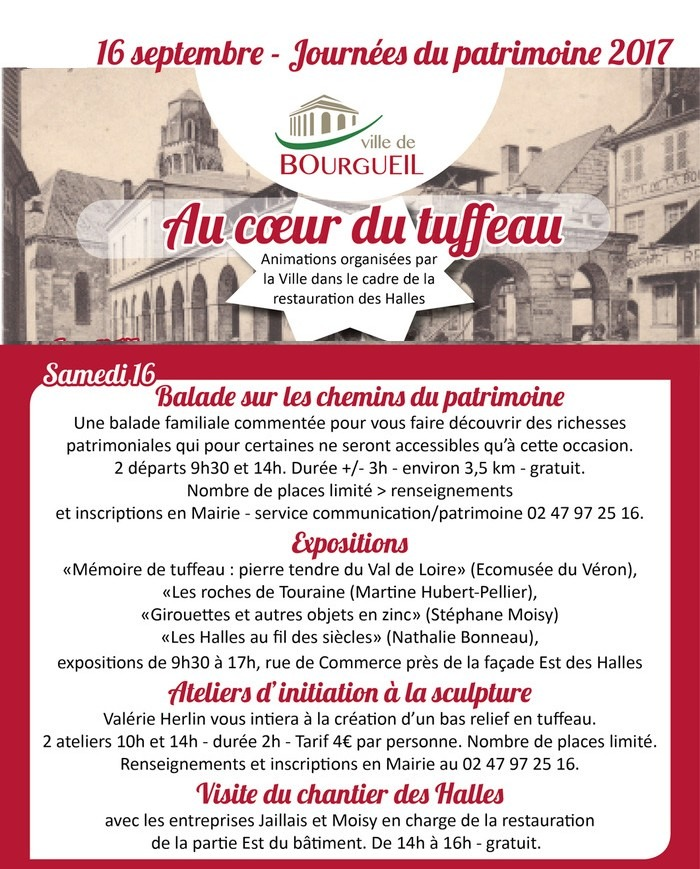 Journées du patrimoine 2017 - Visite du chantier des Halles par les  entreprises Jaillais et Moisy, en charge de la restauration de la façade Est