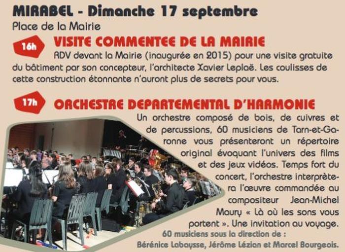Journées du patrimoine 2017 - Orchestre Départemental d'Harmonie