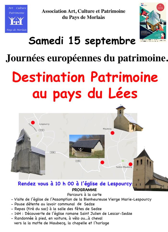 Journées du patrimoine 2018 - Destination patrimoine au pays du Lées