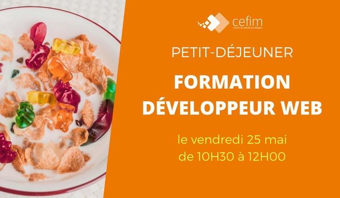 Développeur Web : petit-déjeuner d'information le 25 mai