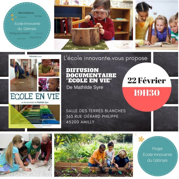 Diffusion documentaire Ecole en Vie