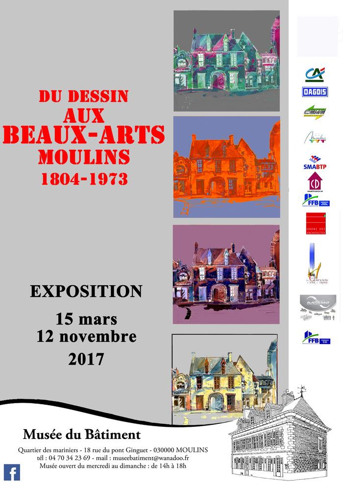 Journées du patrimoine 2017 - Du dessin aux Beaux-Arts - Moulins - 1804/1973