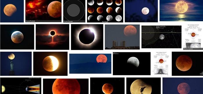 Eclipse lunaire au Jardin de Traverse