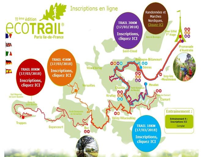 Ecotrail Paris - Trail 45km et rando 78