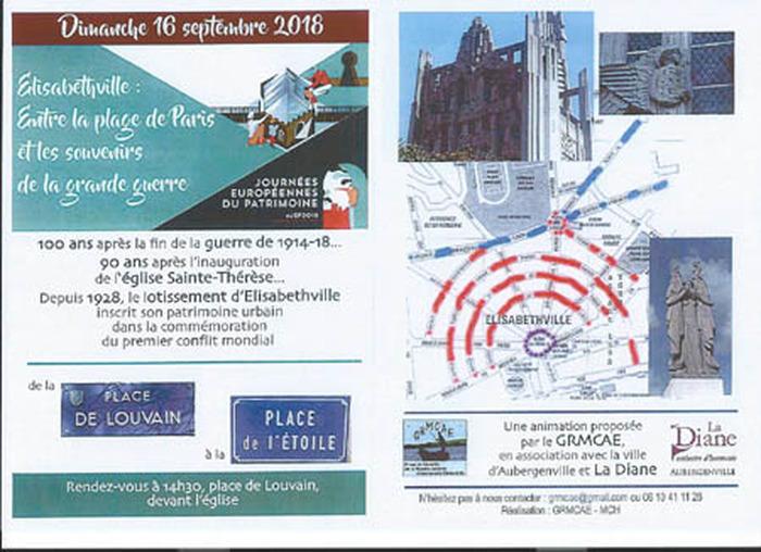 Journées du patrimoine 2018 - Elisabethville: entre la plage de Paris et les souvenirs de la «Grande Guerre».