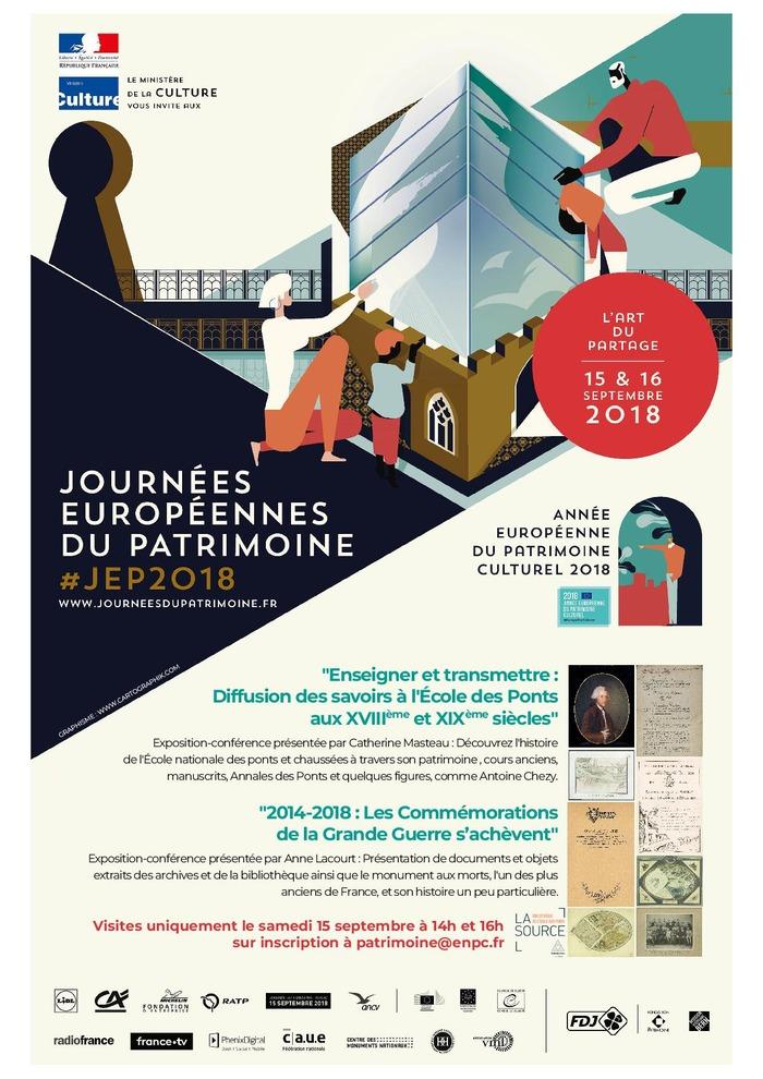 Journées du patrimoine 2018 - Enseigner, transmettre : la diffusion des savoirs à l'École des ponts et chaussées aux XVIIIe et XIXe siècles