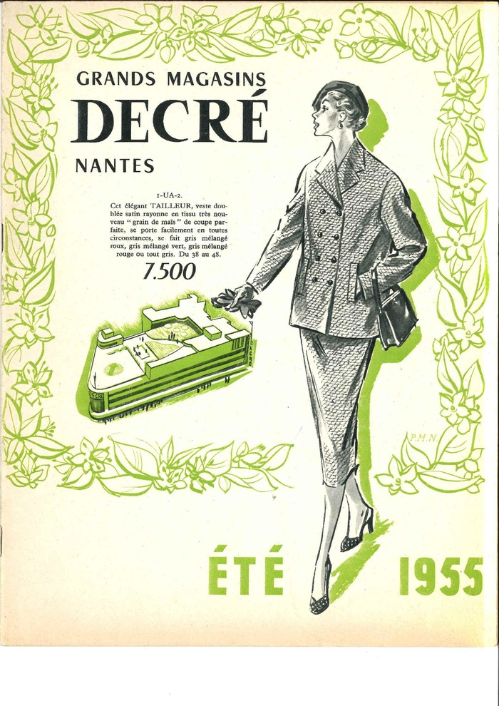 Crédits image : Catalogue Decré été 1955. Copyright Archives Galeries Lafayette