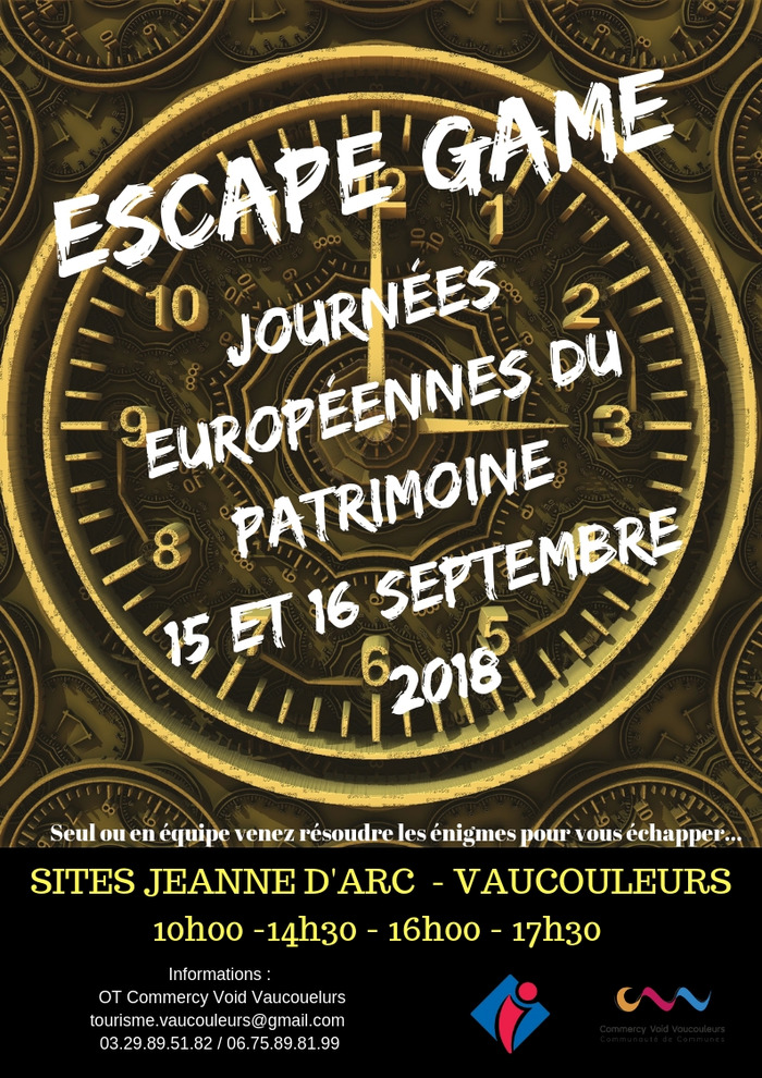 Journées du patrimoine 2018 - Escape Game
