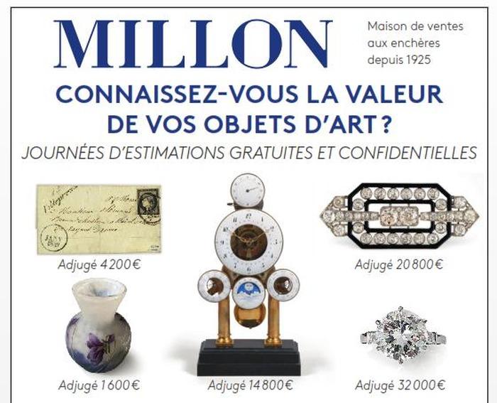 Journées du patrimoine 2018 - Estimations gratuites de vos objets d'art (tableaux, bijoux, objets d'art ou de collection)