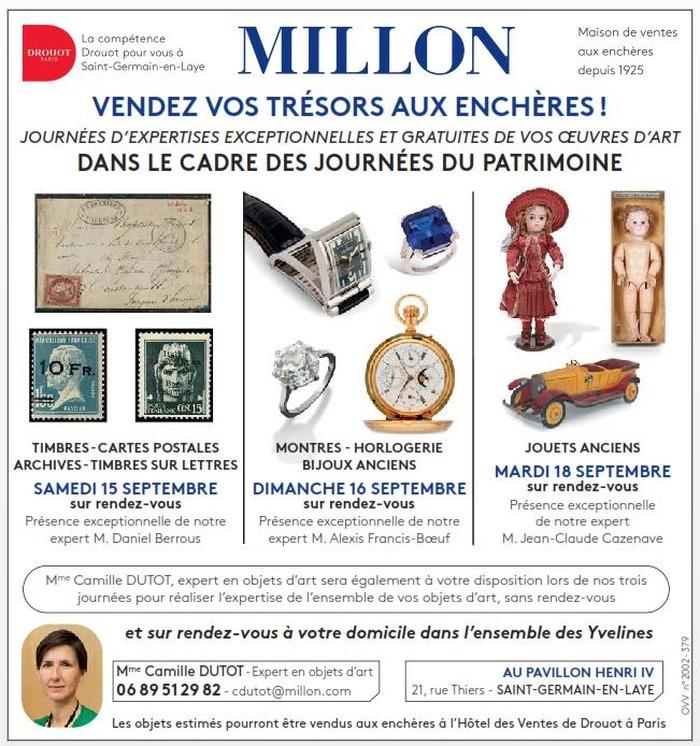 Journées du patrimoine 2018 - Estimations de vos objets d'art - Journée d'expertise spéciale montres de collection et bijoux anciens