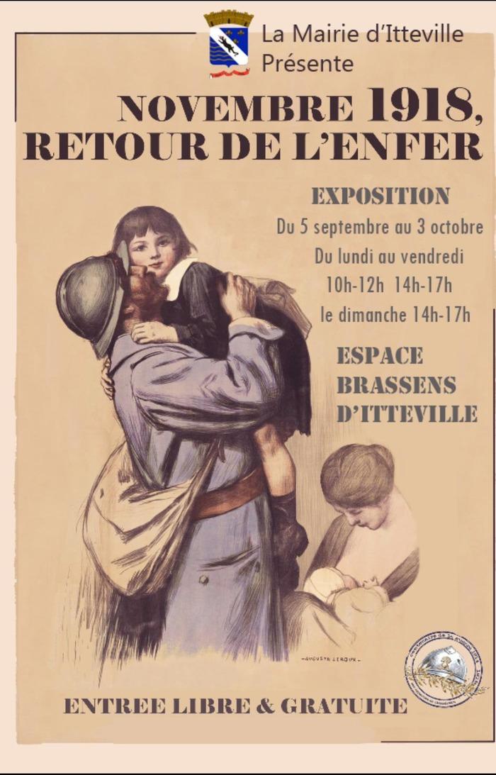 Journées du patrimoine 2018 - Exposition Novembre 1918, retour de l'enfer