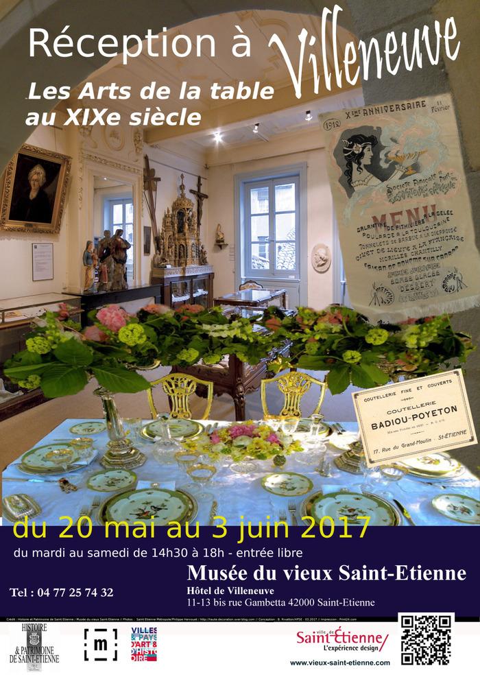 Expo : Réception à Villeneuve ... les Arts de la table au XIXe siècle
