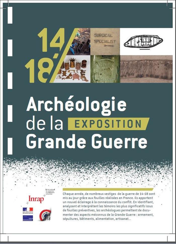 Journées du patrimoine 2017 - Exposition 14-18 - Archéologie de la Grande Guerre