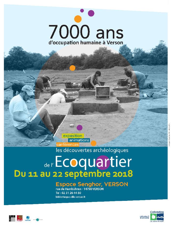 Journées du patrimoine 2018 - Exposition 7000 ans d'occupation humaine à Verson