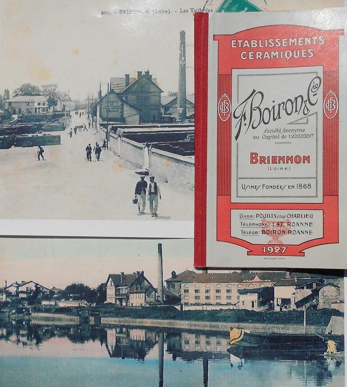 Journées du patrimoine 2018 - Exposition animation sur l'histoire de la Tuilerie de Briennon à l'occasion du 150e anniversaire de sa création.