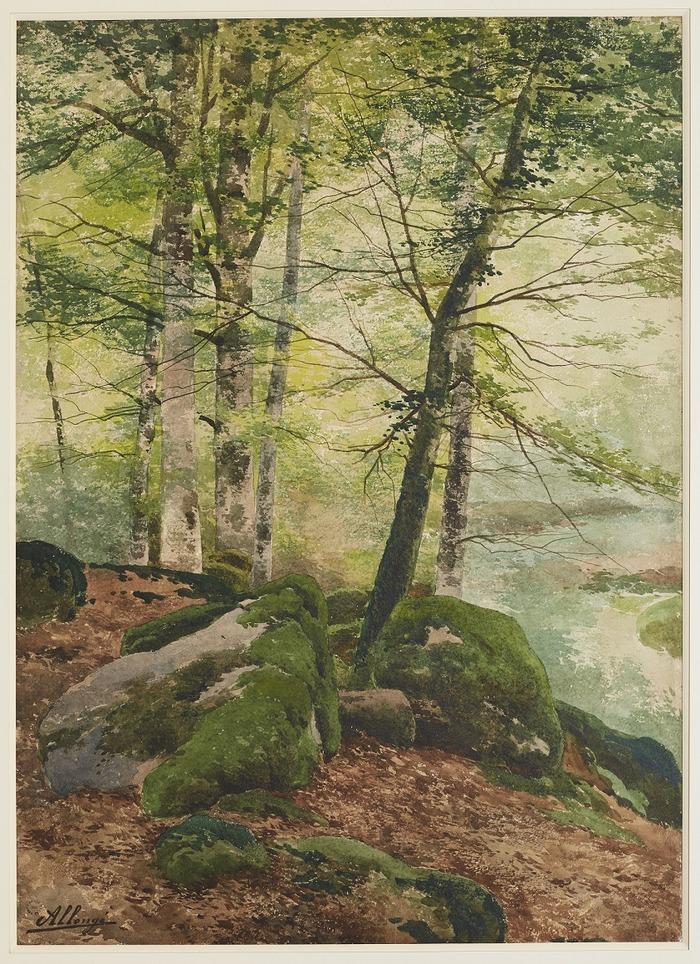 Crédits image : Rochers en forêt de Fontainebleau, Collection Mairie de Bourron-Marlotte, P.Lacombe.