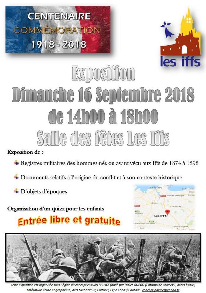 Journées du patrimoine 2018 - Exposition commémorative sur la guerre 14-18