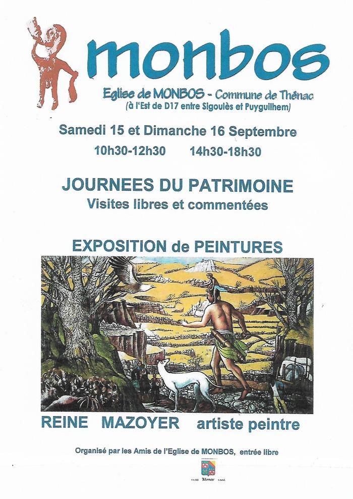 Journées du patrimoine 2018 - Exposition des peintures de Reine Mazoyer, artiste peintre, et animations