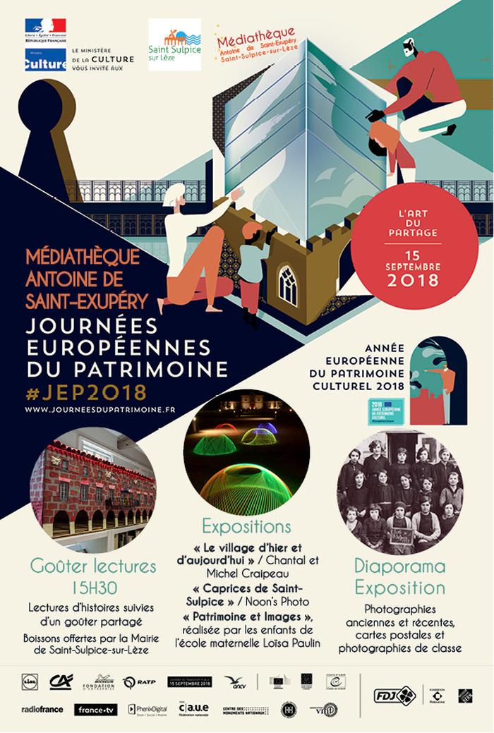 Journées du patrimoine 2018 - Exposition de photos anciennes et récentes, de maquettes du village et diaporama