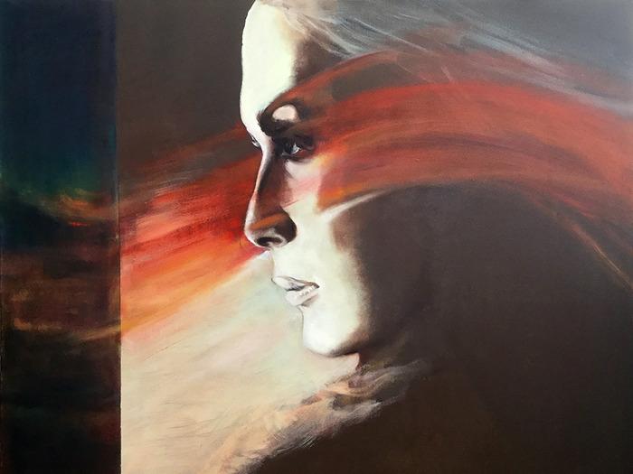 Journées du patrimoine 2018 - Exposition de tableaux de Marianne van Nunen et Tom Kalkman à l'église de La Neuville-à-Maire