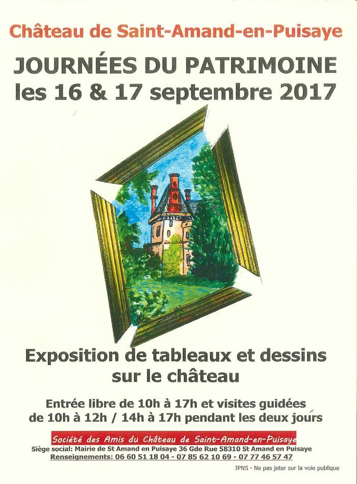 Journées du patrimoine 2017 - Exposition de tableaux et dessins illustrant le château de St Amand-en-Puisaye