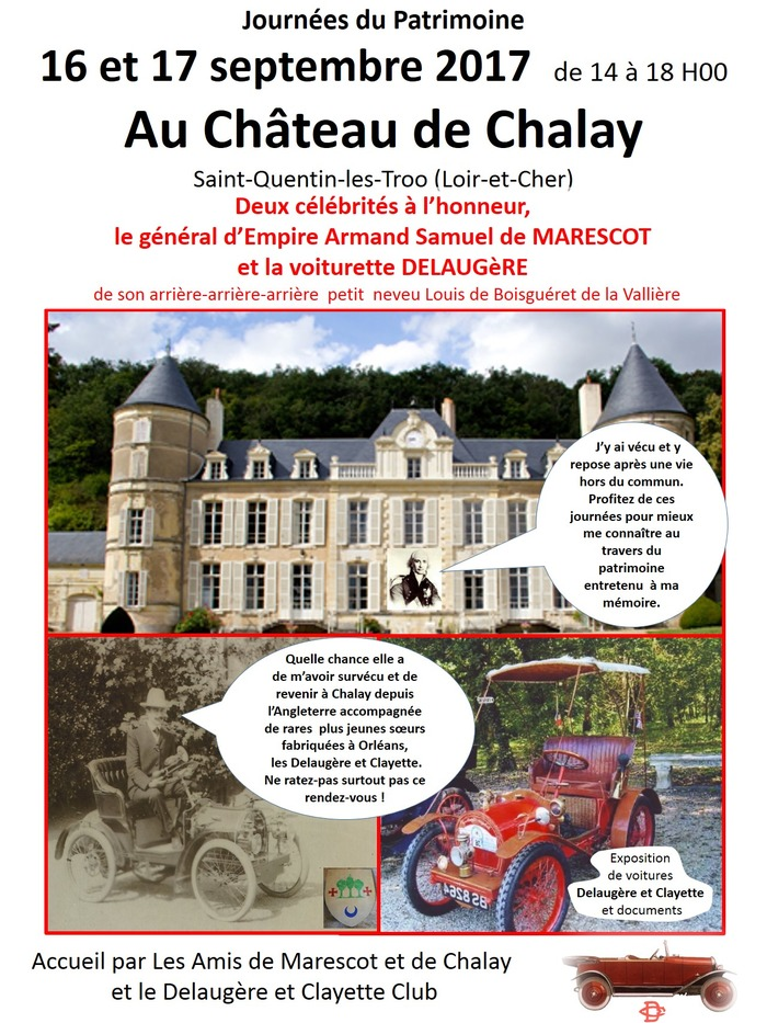 Journées du patrimoine 2017 - Exposition Delaugère et Clayette