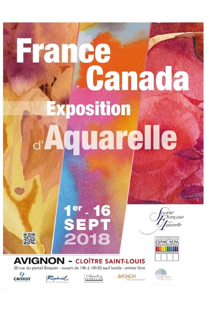 Journées du patrimoine 2018 - Exposition France-Canada: exposition d'Aquarelles du 1 au 16 Septembre