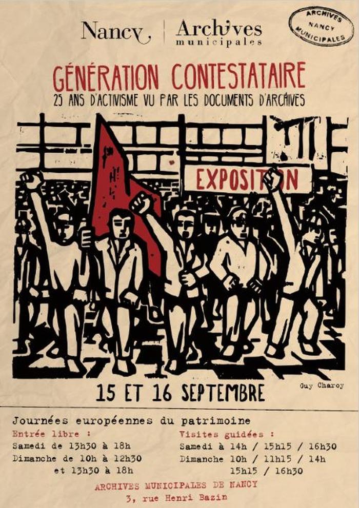 Journées du patrimoine 2018 - Exposition : Génération contestataire