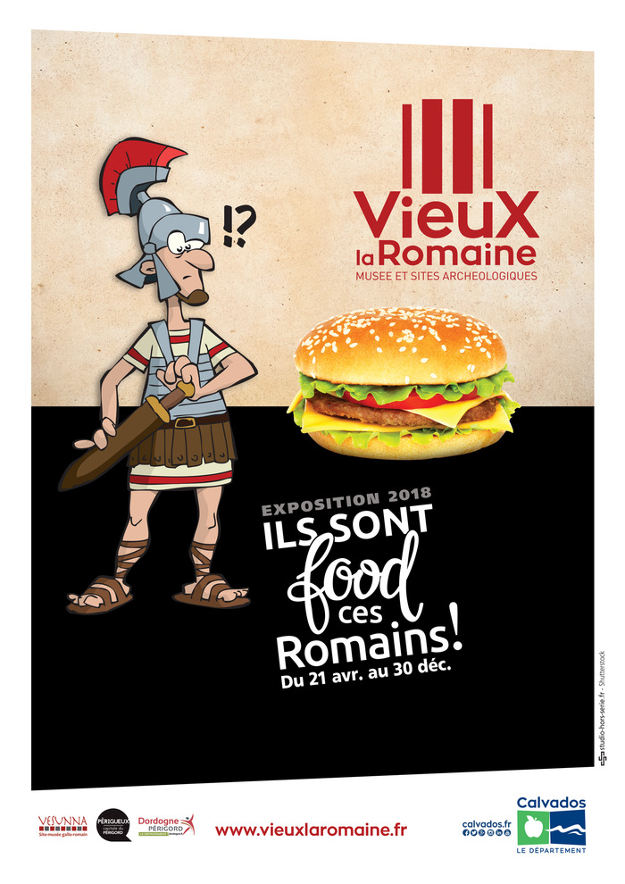 Journées du patrimoine 2018 - Exposition Ils sont food ces romains !