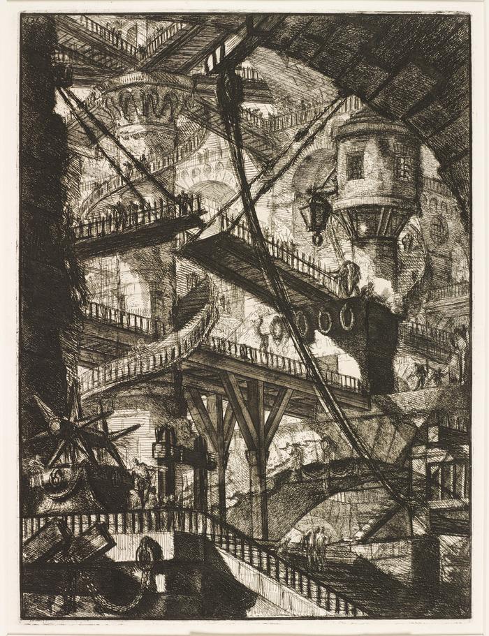 Crédits image : Piranèse, Le pont-levis, 1749