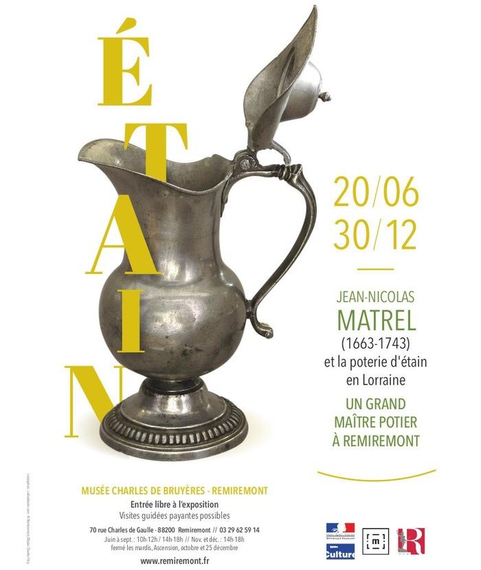 Journées du patrimoine 2018 - Exposition Jean-Nicolas Matrel et la poterie d'étain en Lorraine - Un grand maître potier à Remiremont