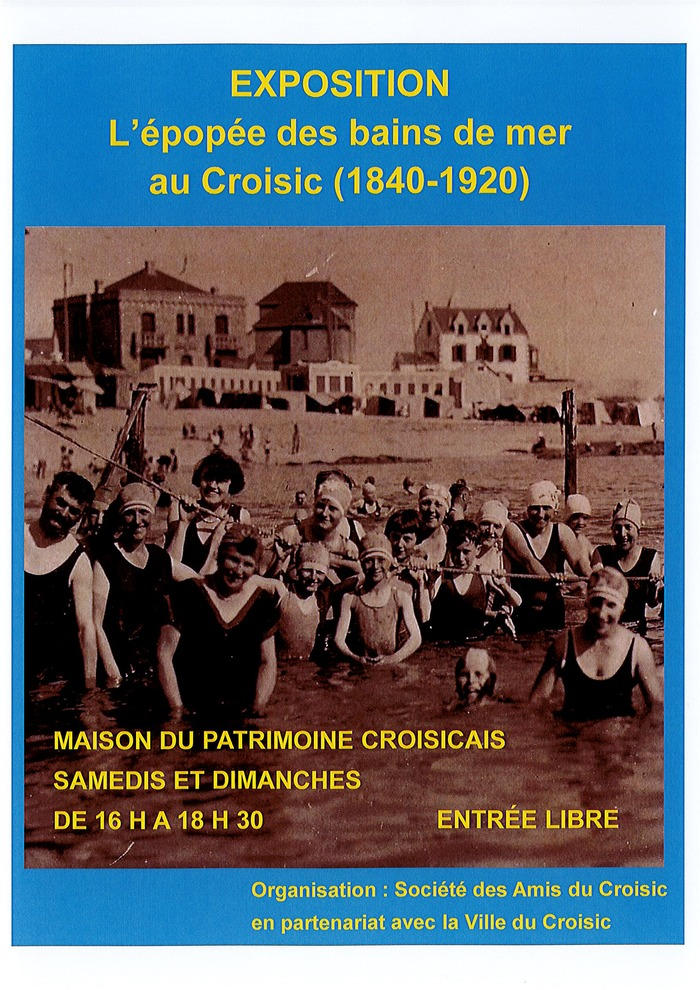 Journées du patrimoine 2018 - Exposition « L'épopée des bains de mer au Croisic (1840-1920) »