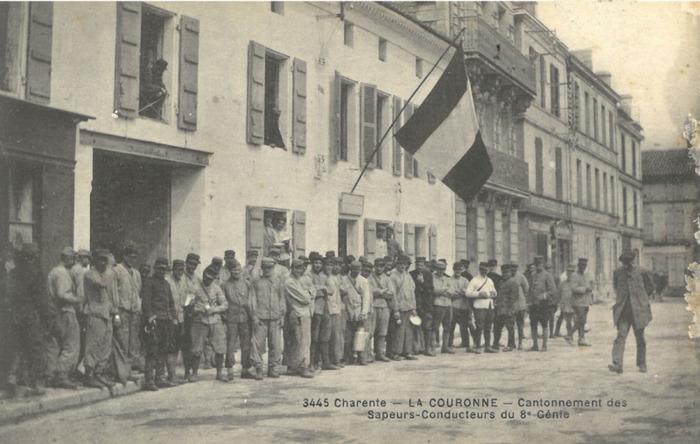 Journées du patrimoine 2018 - Exposition : Le VIIIe régiment de Génie à La Couronne pendant la Guerre de 1914-1918