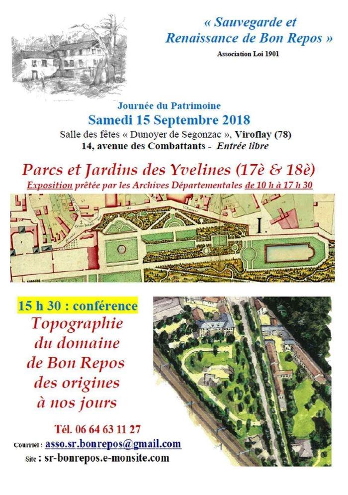 Journées du patrimoine 2018 - Expositions Parc et jardins des Yvelines aux XVIIe et XVIIIe siècles