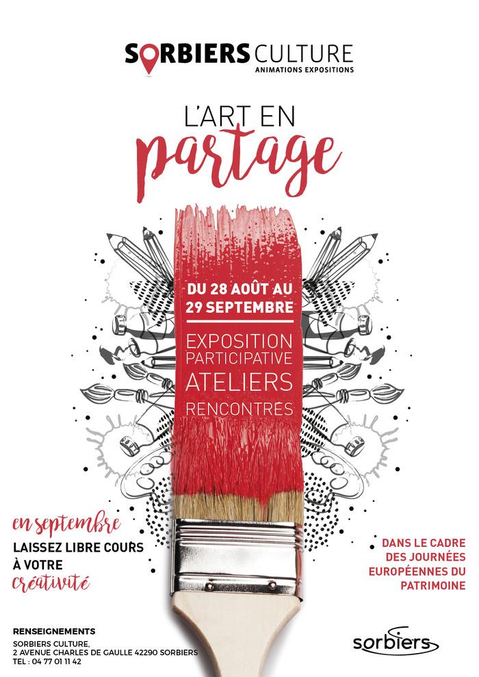 Journées du patrimoine 2018 - Exposition participative «l'art en partage».