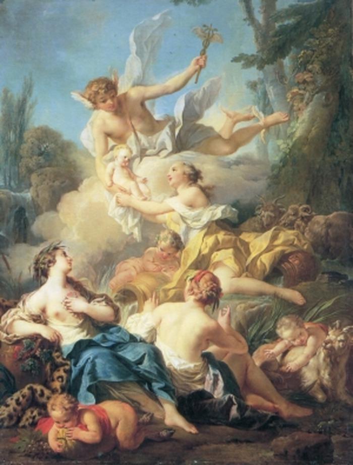 Crédits image : Pierre le Mettais, L'enfance de Bacchus © Musée des Beaux-Arts, Lons-le-Saunier