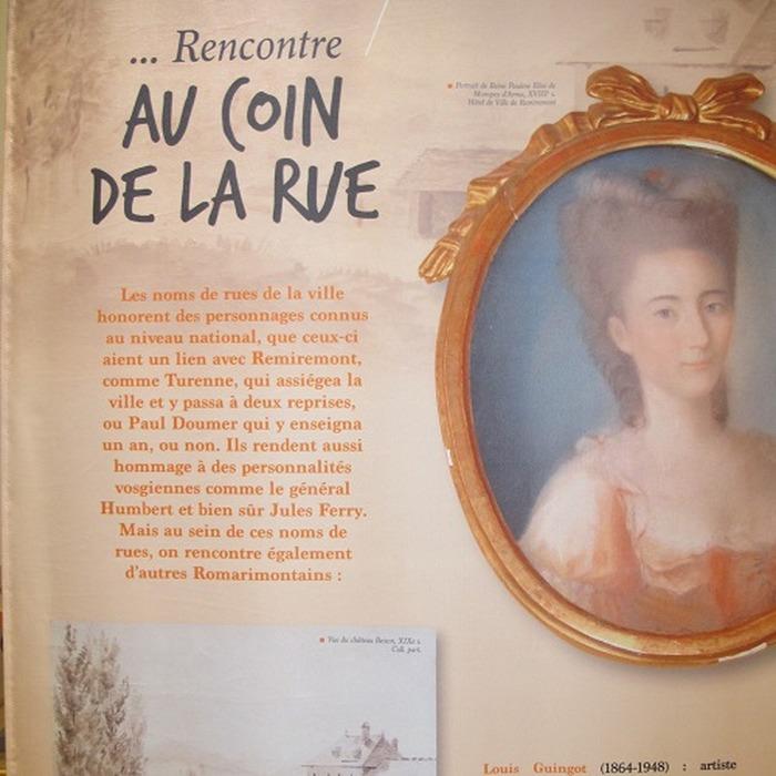 Journées du patrimoine 2018 - Exposition sur le patrimoine de Remiremont et les romarimontains inoubliables