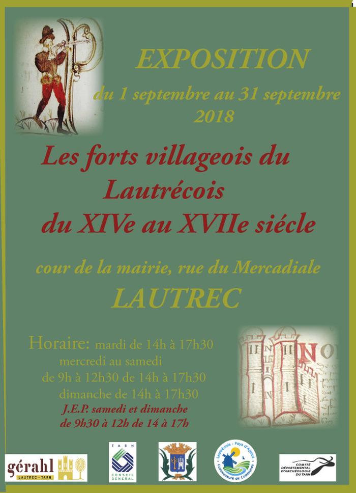 Journées du patrimoine 2018 - Exposition sur les forts villageois du Lautrécois