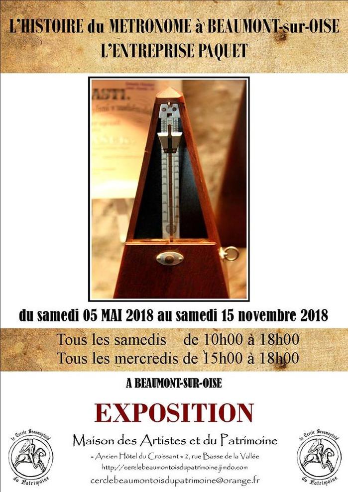 Journées du patrimoine 2018 - Exposition sur les métronomes Paquet