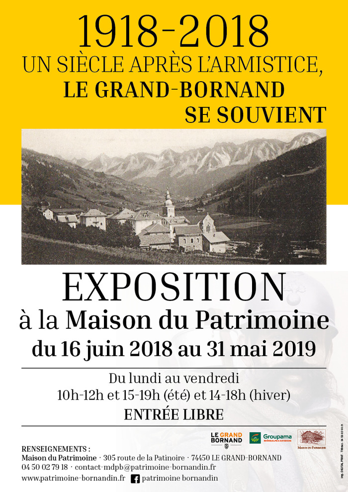 Journées du patrimoine 2018 - Exposition temporaire 2018-2019 :