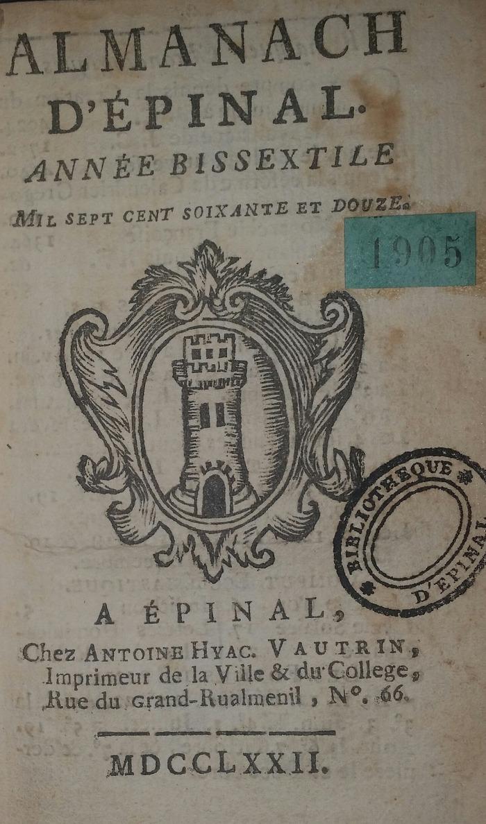 Journées du patrimoine 2018 - Exposition : Trois siècles d'imprimerie à Épinal, des origines à 1918