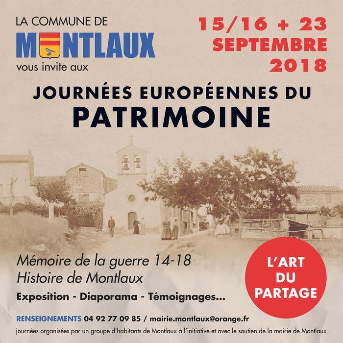 Journées du patrimoine 2018 - Expositions Montlaux