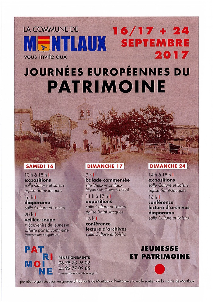 Journées du patrimoine 2017 - expositions sur le thème jeunesse et patrimoine